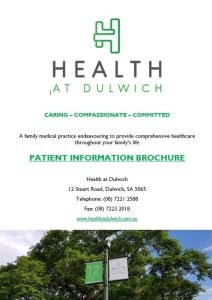 Health at Dulwich Practice Brochue